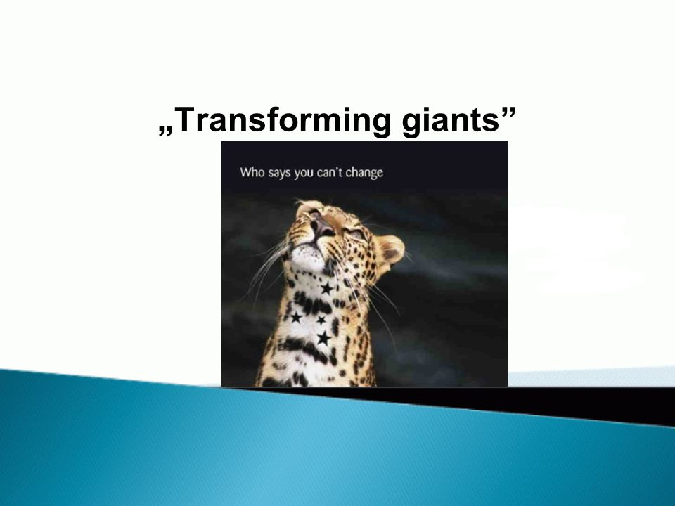 """Transforming giants"""