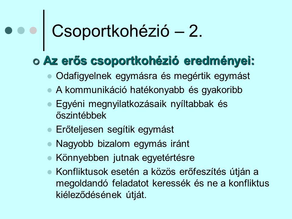 Csoportnormák – 1.