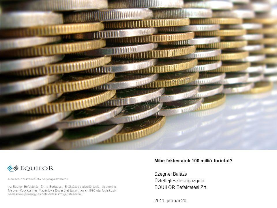 12 Újabb siker a második tranche-ban A második körben, december elején a Társaság közel 2 milliárd forint értékű újabb kötvénykibocsátást hajtott végre a növekvő kötvénypiaci hozamok és a bizonytalanná váló magyar tőkepiaci helyezet ellenére.