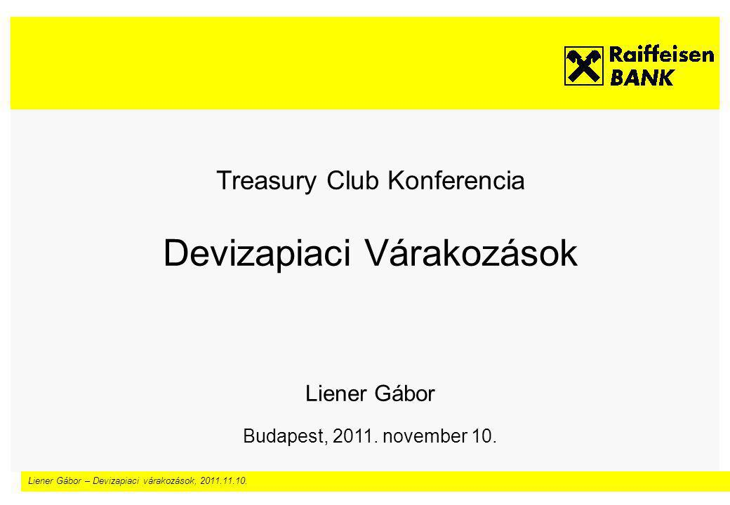 Liener Gábor – Devizapiaci várakozások, 2011.11.10.