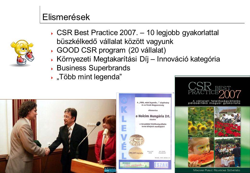 Elismerések  CSR Best Practice 2007.