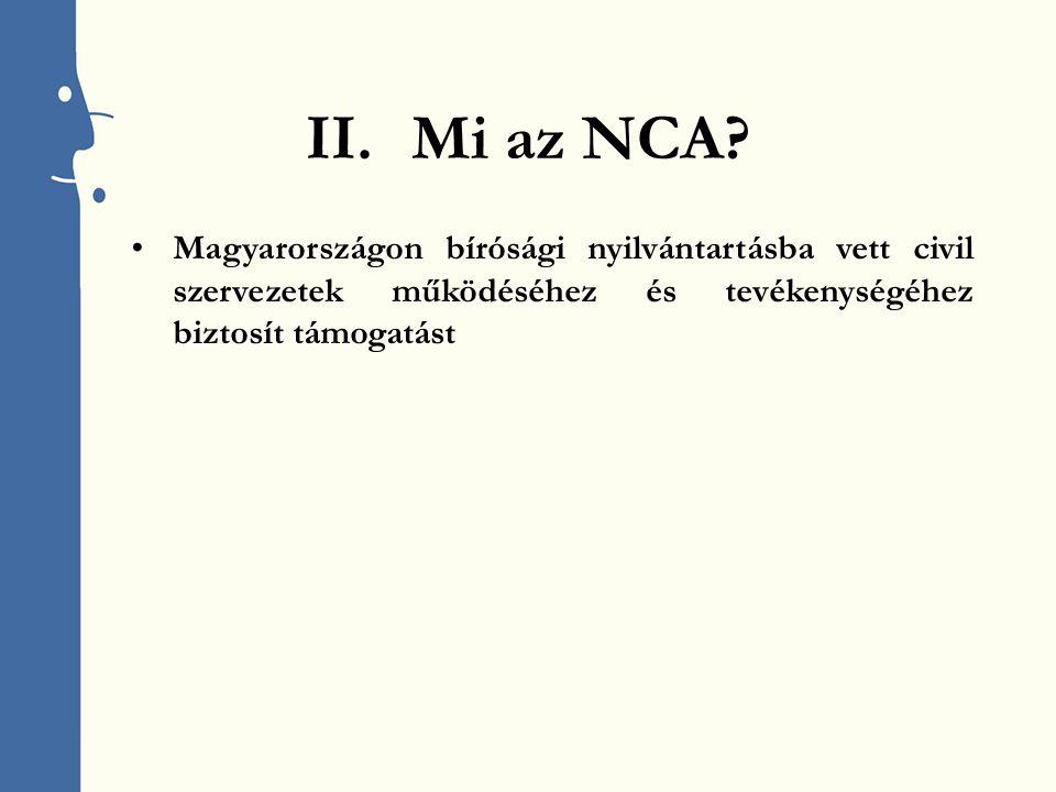 II.Mi az NCA.