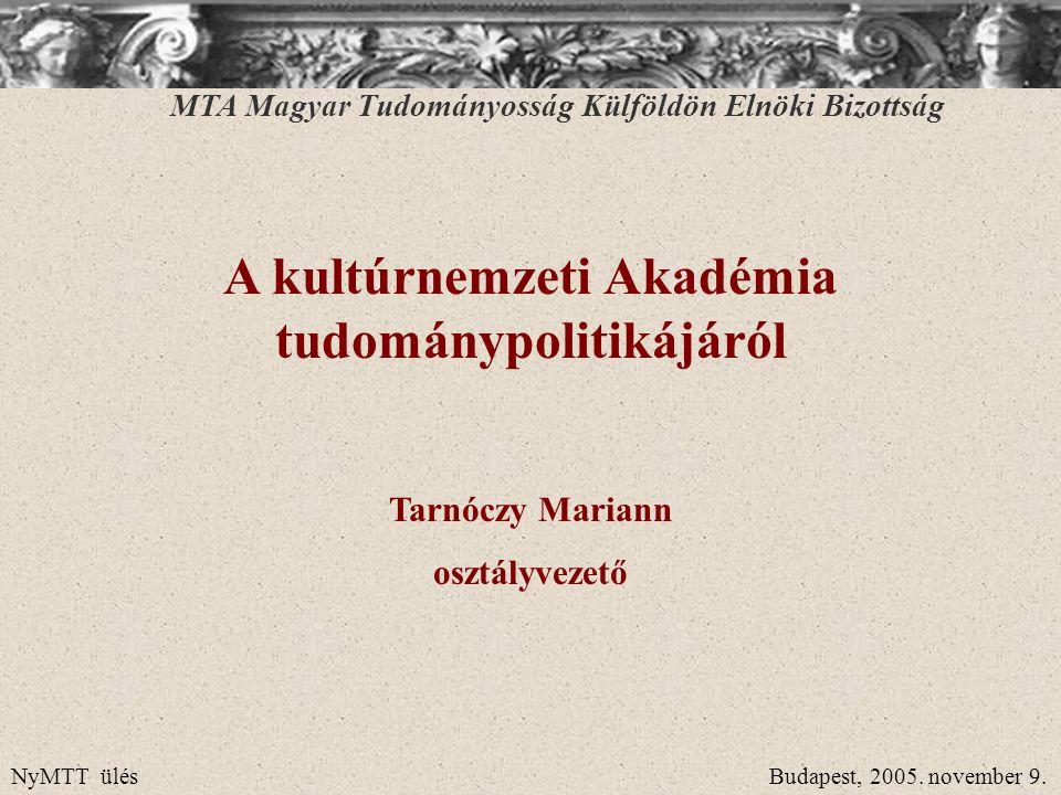 államnemzet – kultúrnemzet A rendszerváltás utáni politikai-gazdasági-társadalmi átalakulások során megfogalmazódott végre nyíltan az a gondolat, hogy a magyar nemzet határai nem esnek egybe a magyar államhatárokkal, s a magyar határokon kívüli magyarok is a magyar nemzet részei.
