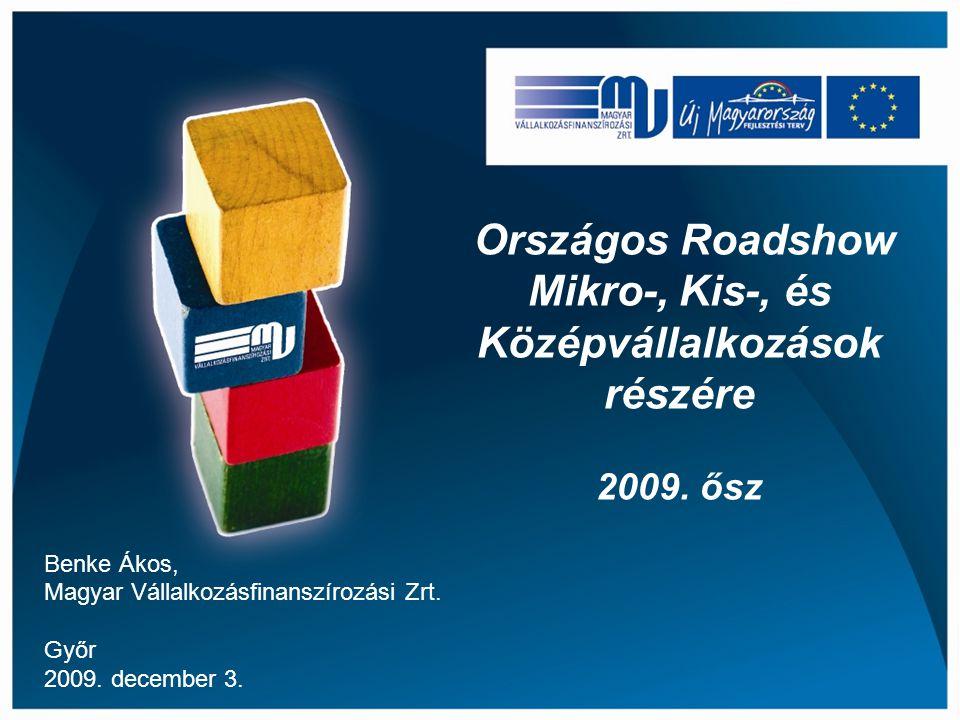 Országos Roadshow Mikro-, Kis-, és Középvállalkozások részére 2009.