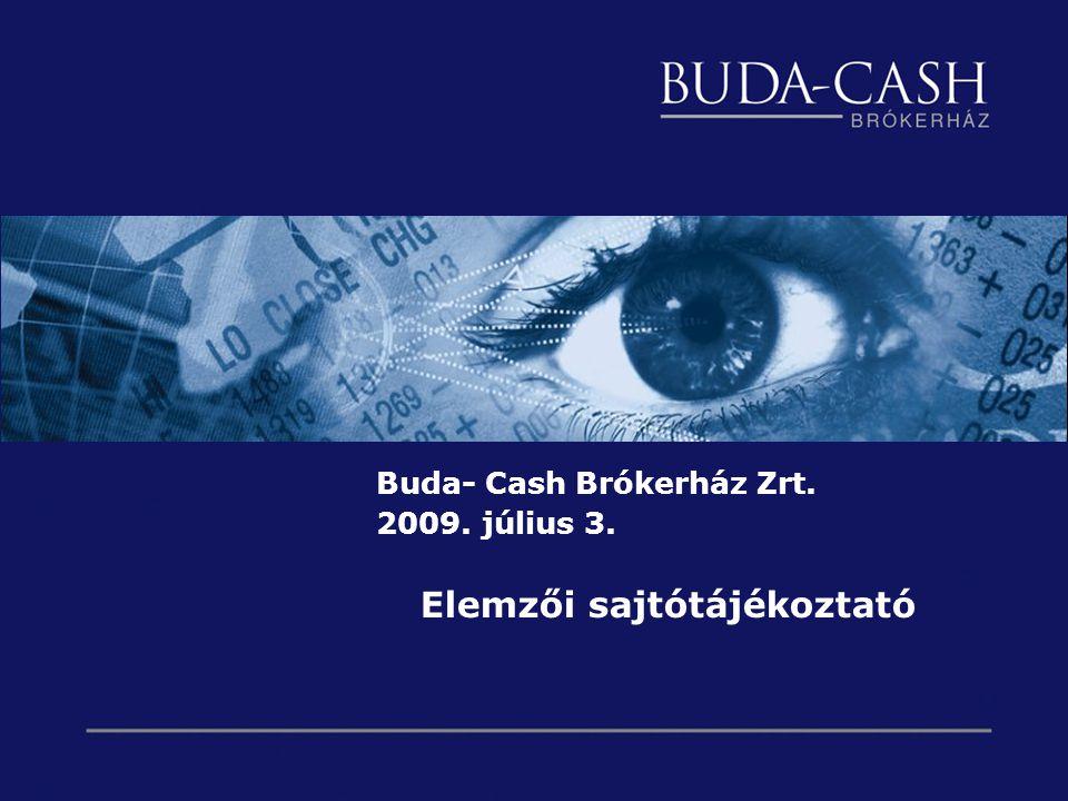 Buda- Cash Brókerház Zrt. 2009. július 3. Elemzői sajtótájékoztató