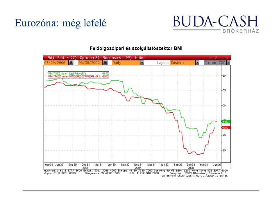 Feldolgozóipari és szolgáltatószektor BMI Eurozóna: még lefelé