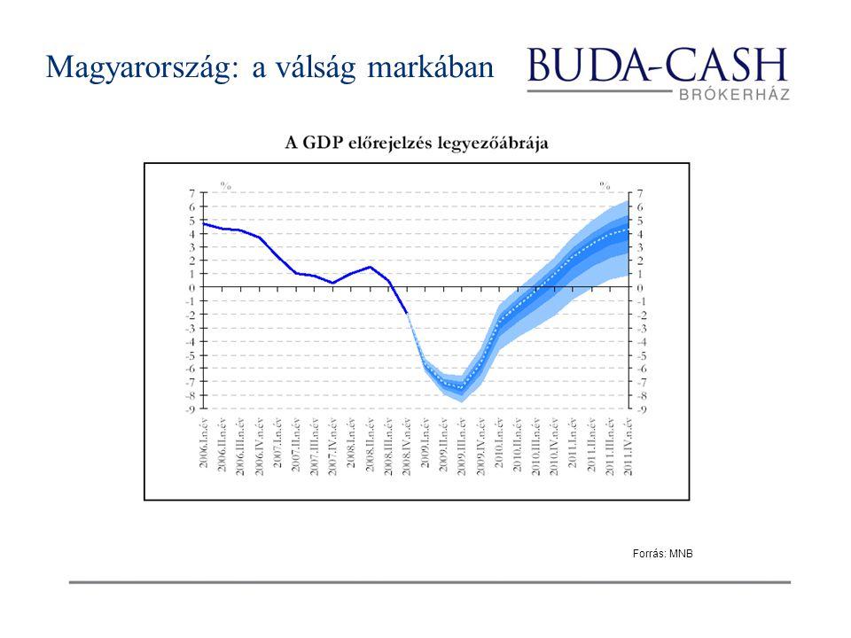 Magyarország: a válság markában Forrás: MNB