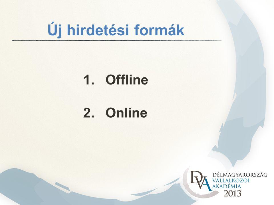 Új hirdetési formák 1. Offline 2. Online
