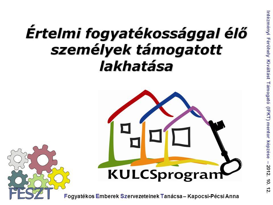 Az ÉFOÉSZ régóta igyekszik elősegíteni a kitagolást, megteremteni alternatív megoldásokat a lakhatásra.