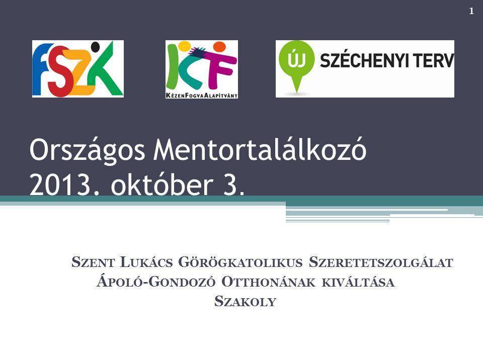 Országos Mentortalálkozó 2013. október 3.