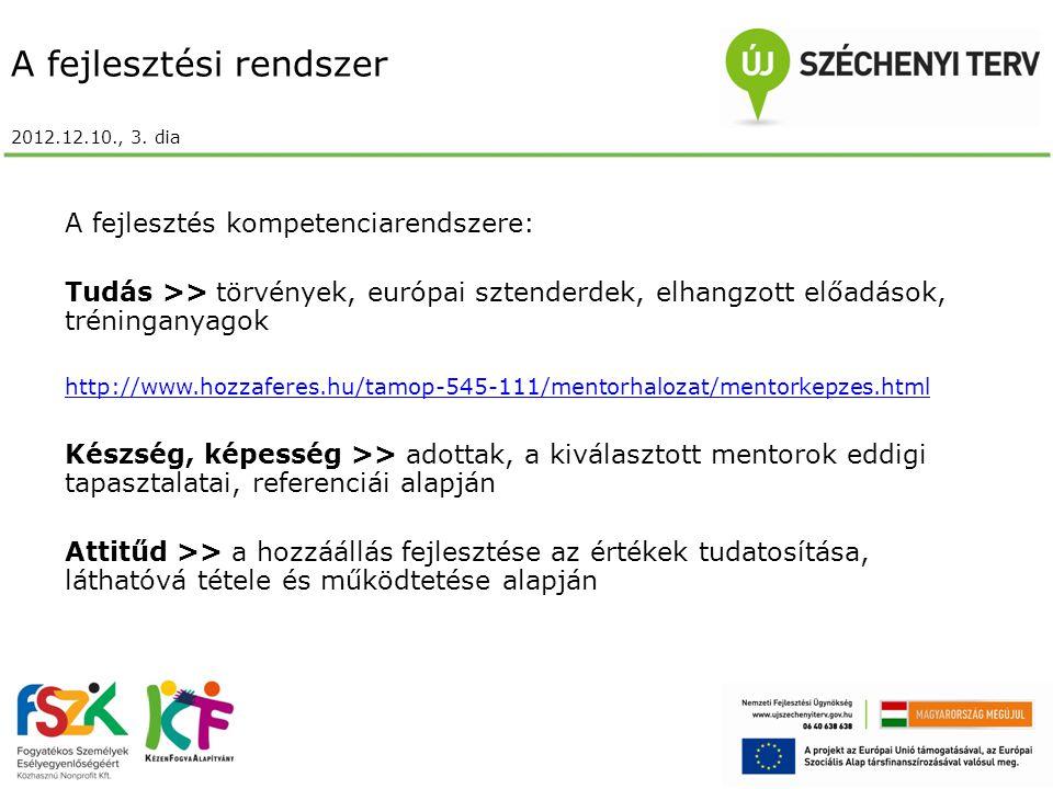 A fejlesztési rendszer 2012.12.10., 3.