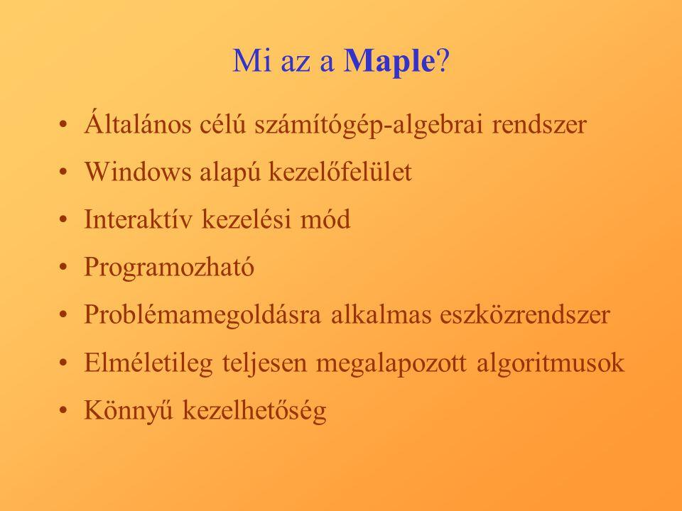 Mi az a Maple? Kezelőfelület