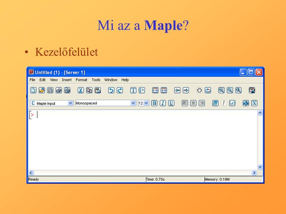 Mi az a Maple Kezelőfelület