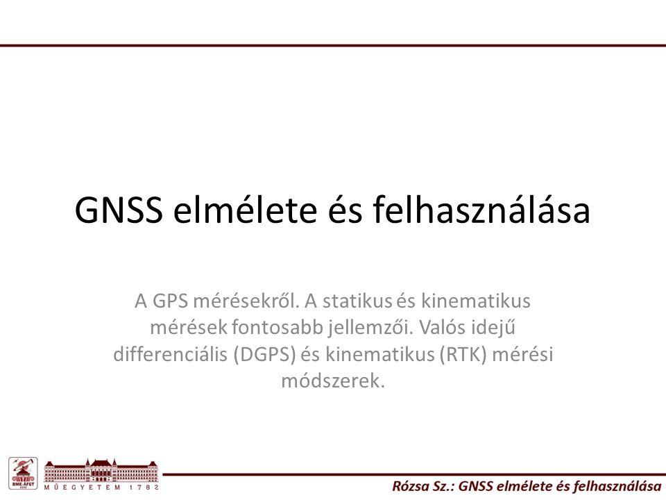 GNSS elmélete és felhasználása A GPS mérésekről.
