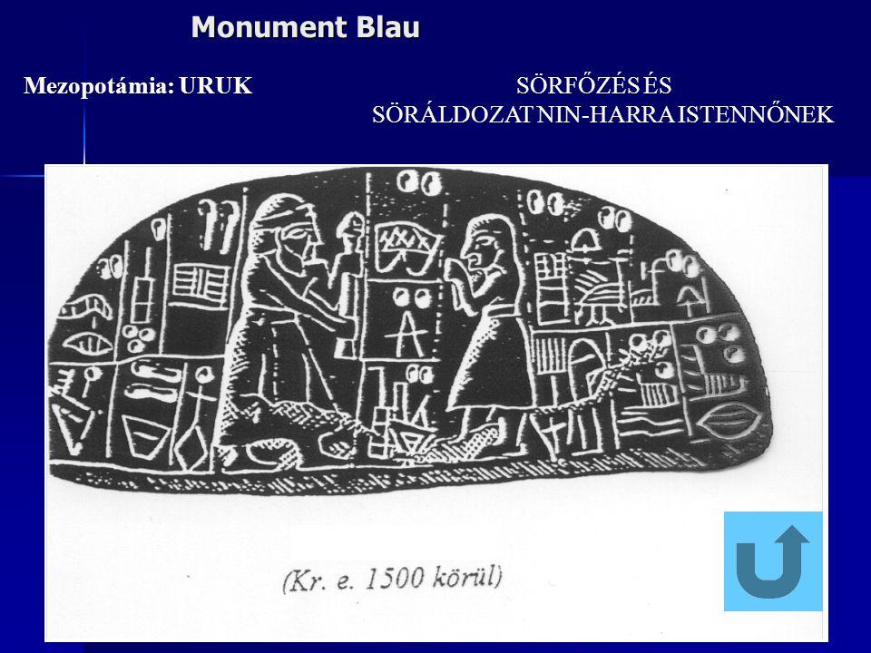Monument Blau Mezopotámia: URUK SÖRFŐZÉS ÉS SÖRÁLDOZAT NIN-HARRA ISTENNŐNEK