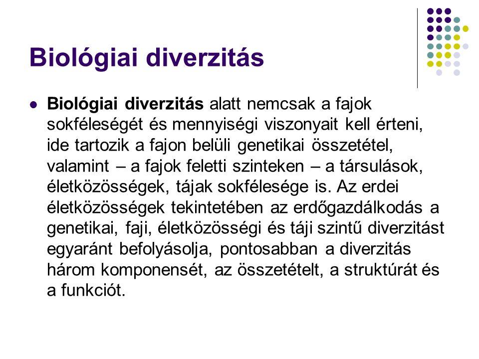 Kompozicionális diverzitás A kompozicionális diverzitás a genetikai, faji (taxonómiai) és életközösségi (ökoszisztéma-) diverzitást foglalja magában.