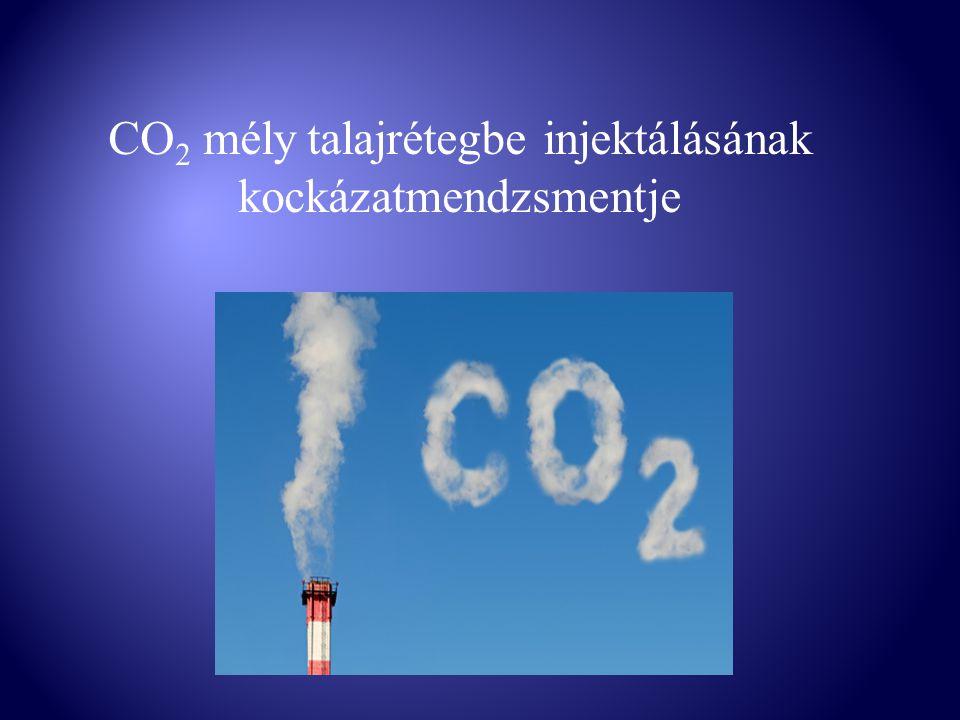 CO 2 mély talajrétegbe injektálásának kockázatmendzsmentje