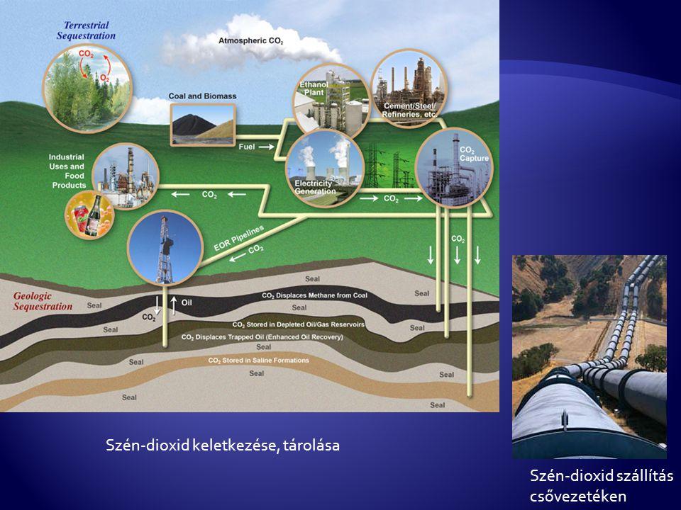 Szén-dioxid keletkezése, tárolása Szén-dioxid szállítás csővezetéken