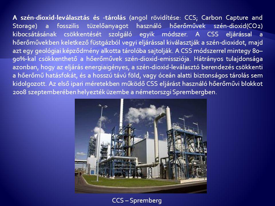 A szén-dioxid emisszió csökkentésére több lehetőség kínálkozik, mint például az energiafelhasználás hatékonyságának növelése, atomenergia, vízi-, illetve alternatív energiatermelés, vagy a szén-dioxid földalatti elhelyezése.