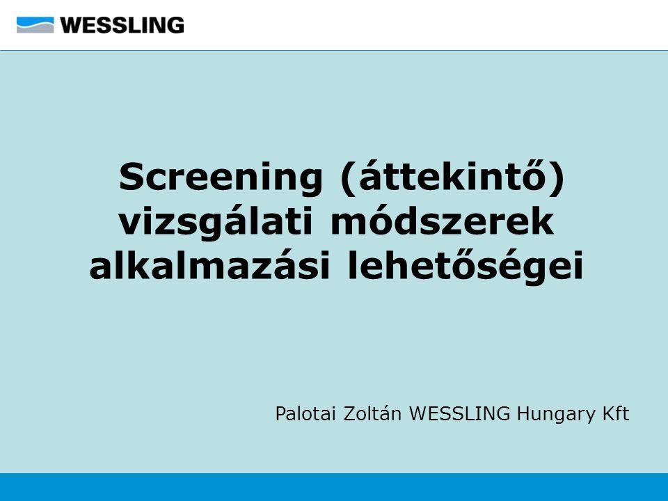 Screening (áttekintő) vizsgálati módszerek alkalmazási lehetőségei Palotai Zoltán WESSLING Hungary Kft