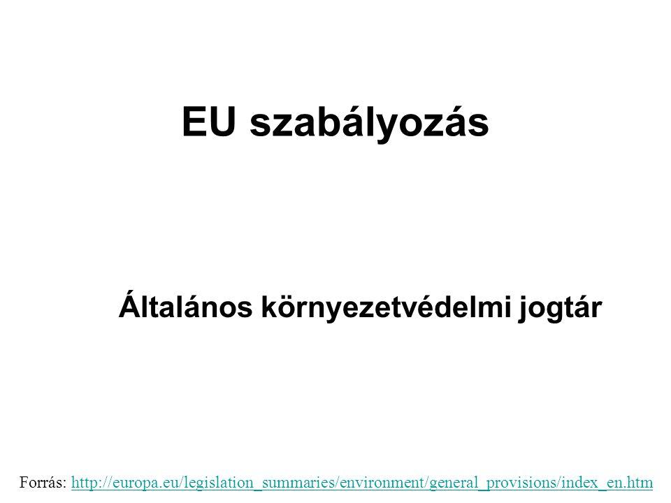 EU szabályozás Általános környezetvédelmi jogtár A 2002.