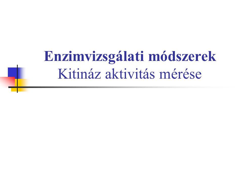 Enzimvizsgálati módszerek Kitináz aktivitás mérése