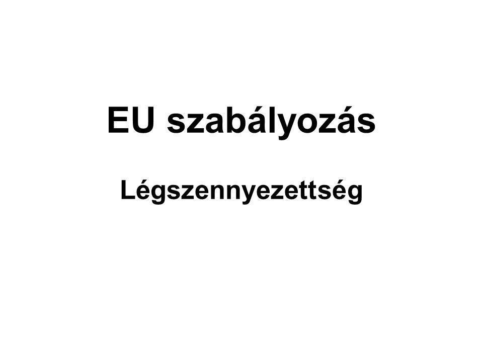 EU szabályozás Légszennyezettség