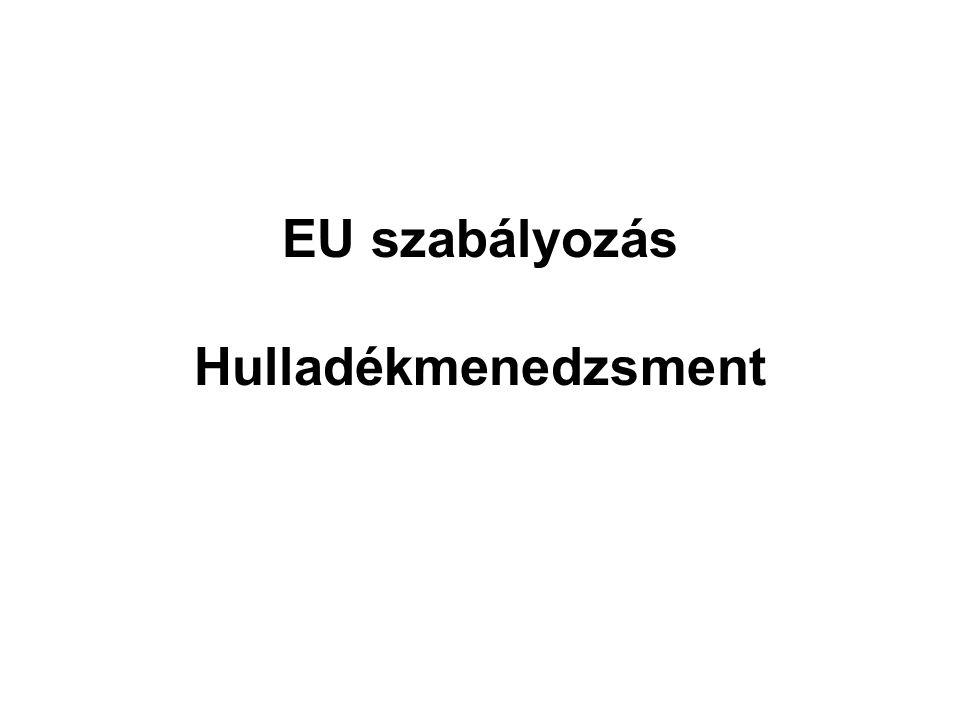 EU szabályozás Hulladékmenedzsment