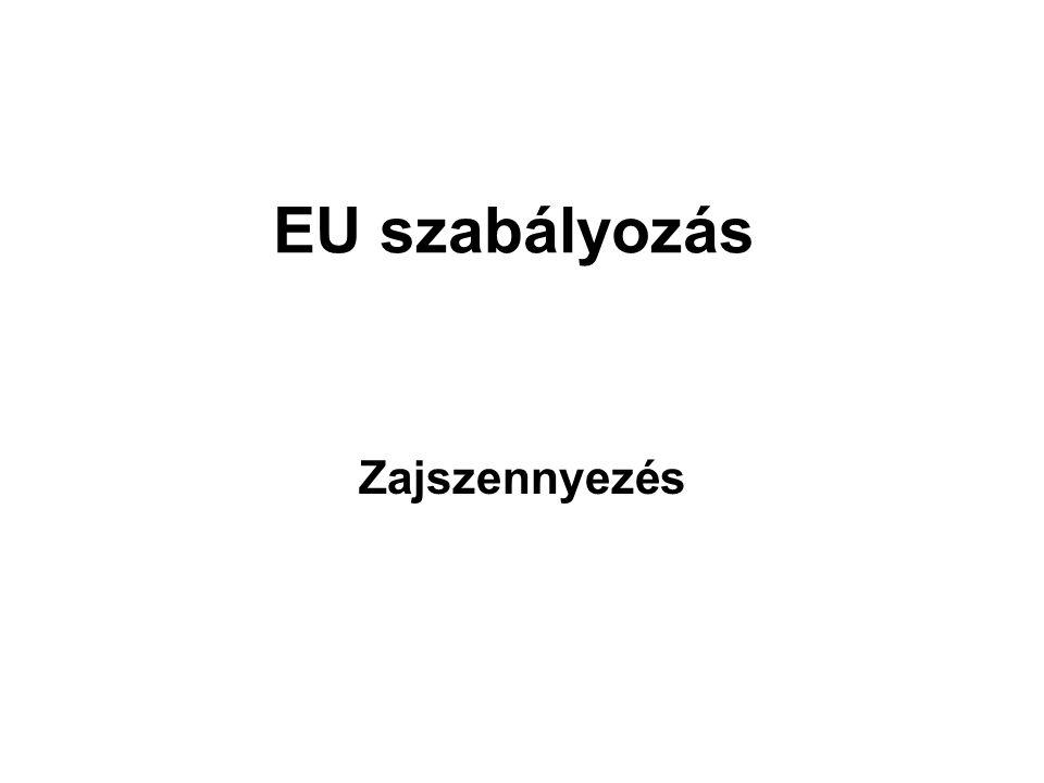 EU szabályozás Zajszennyezés