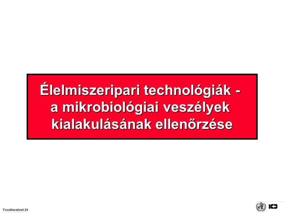 Foodtecshort 24 Élelmiszeripari technológiák - a mikrobiológiai veszélyek kialakulásának ellenőrzése