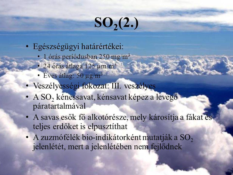 SO 2 (3.) - A téli köd fő alkotórésze 1. kép: Kén-dioxid szerkezete (www.wikipedia.hu)
