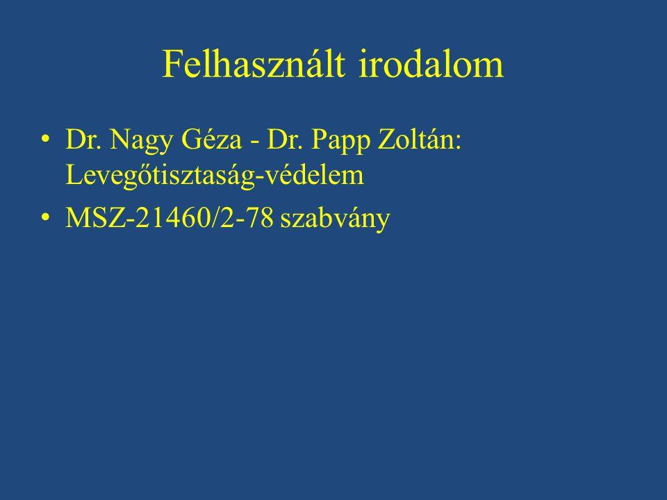 Felhasznált irodalom Dr.Nagy Géza - Dr.