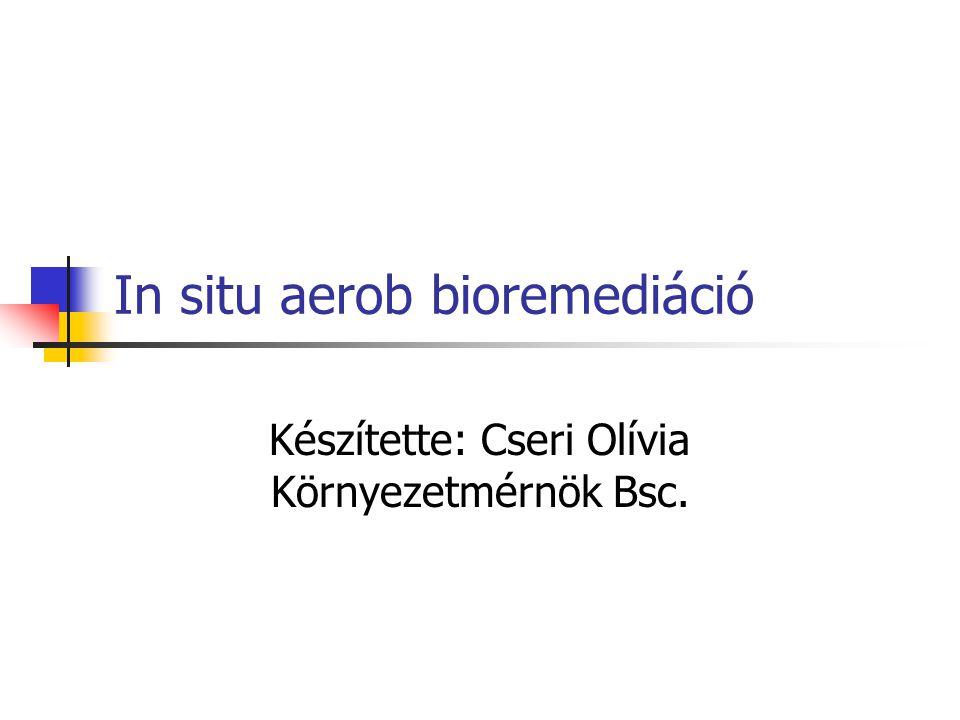In situ aerob bioremediáció Készítette: Cseri Olívia Környezetmérnök Bsc.