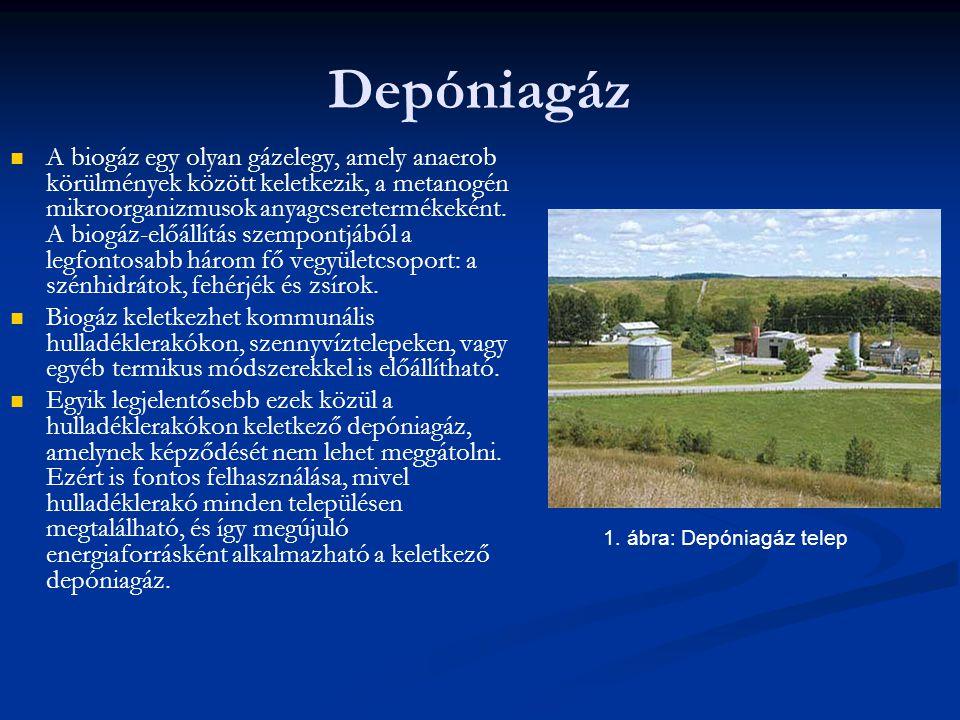 Depóniagáz A biogáz egy olyan gázelegy, amely anaerob körülmények között keletkezik, a metanogén mikroorganizmusok anyagcseretermékeként. A biogáz-elő