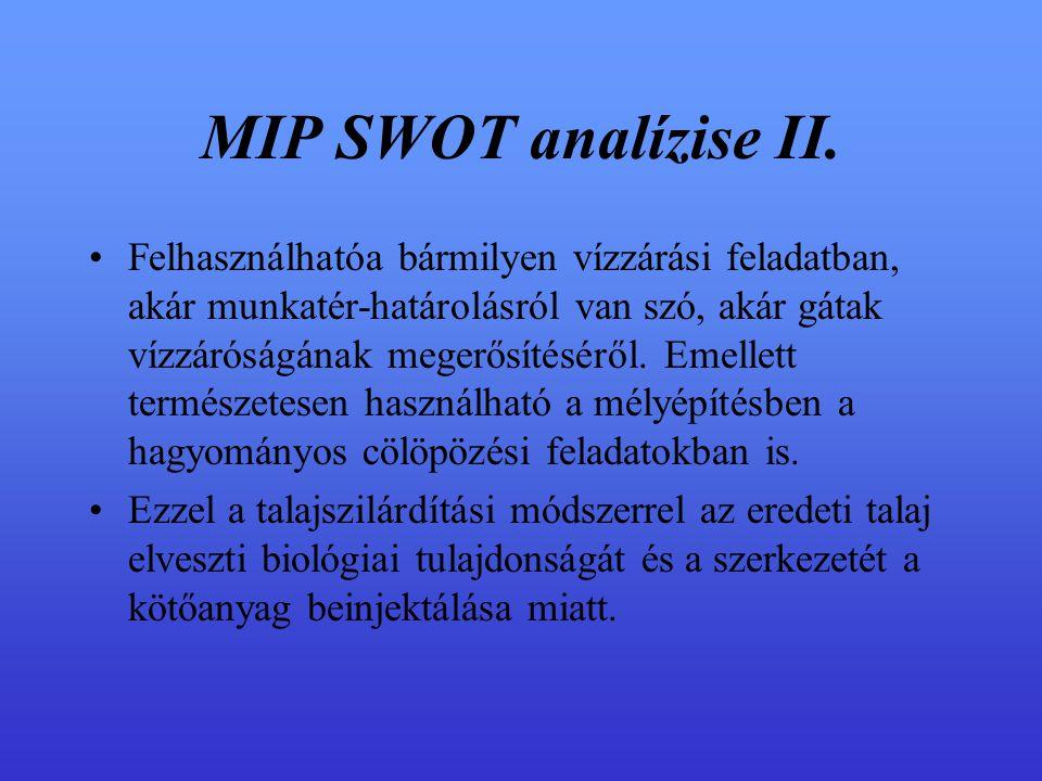 MIP SWOT analízise II.