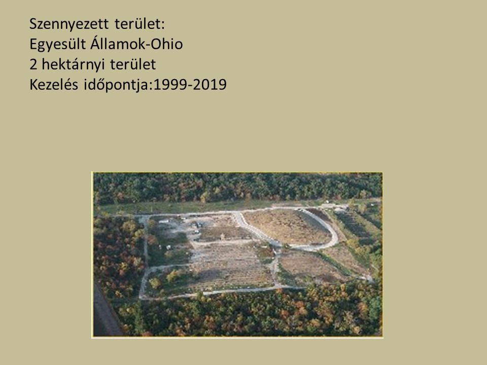 Szennyezett terület: Egyesült Államok-Ohio 2 hektárnyi terület Kezelés időpontja:1999-2019