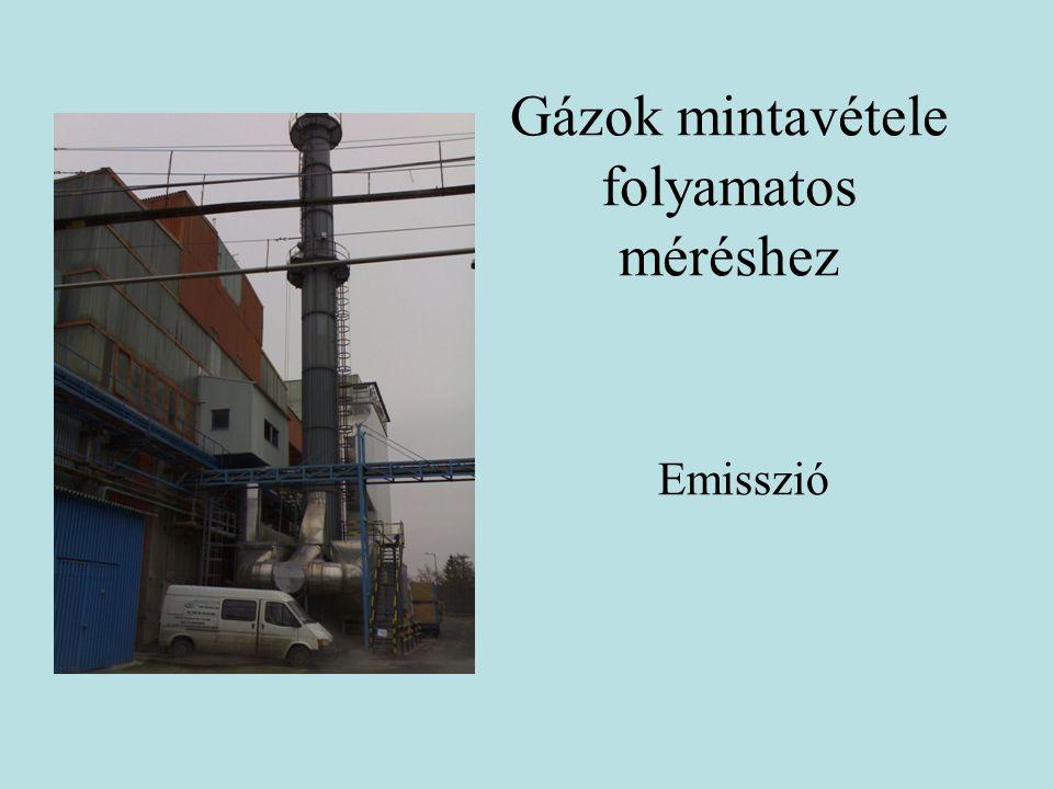 Gázok mintavétele folyamatos méréshez Emisszió