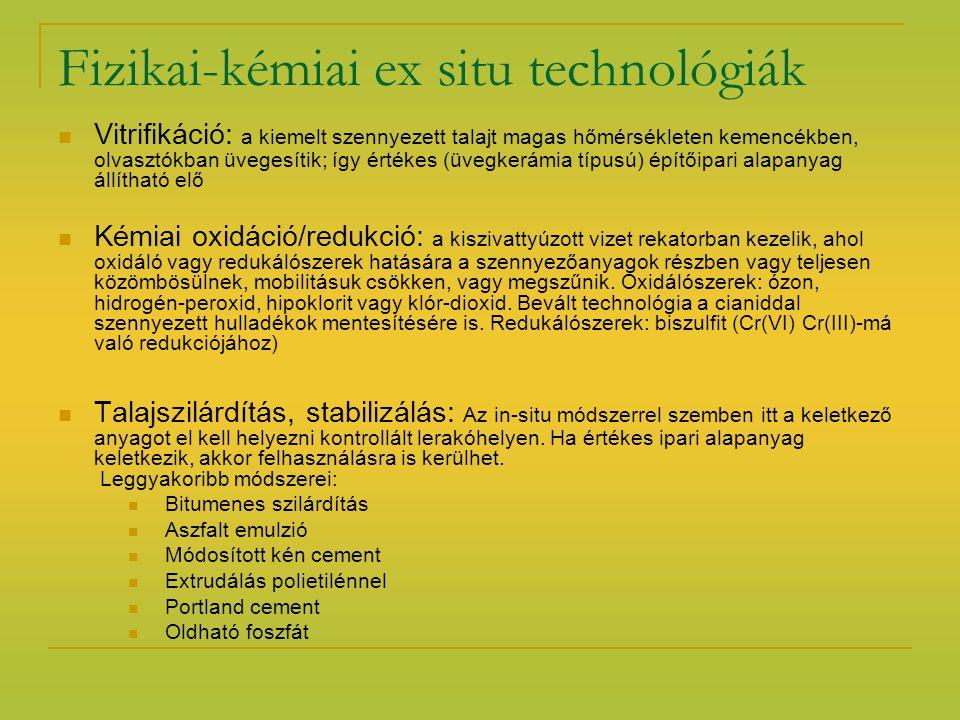 Ex situ oxidációs-redukciós eljárás folyamata In situ talajszilárdítás, stabilizáció Forrás:http://www.kvvm.hu/szakmai/karmentes/kiadvanyok/karmkezikk4/index.htm