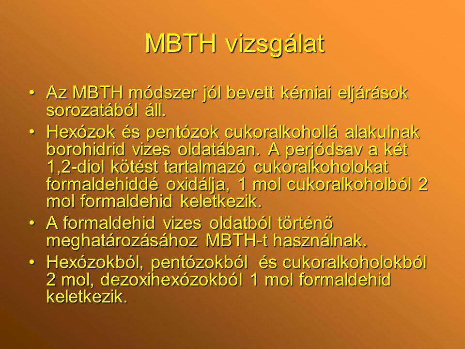 Az MBTH módszer jól bevett kémiai eljárások sorozatából áll.Az MBTH módszer jól bevett kémiai eljárások sorozatából áll.