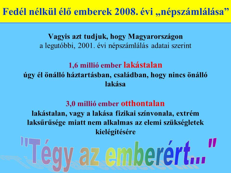 Vagyis azt tudjuk, hogy Magyarországon a legutóbbi, 2001.