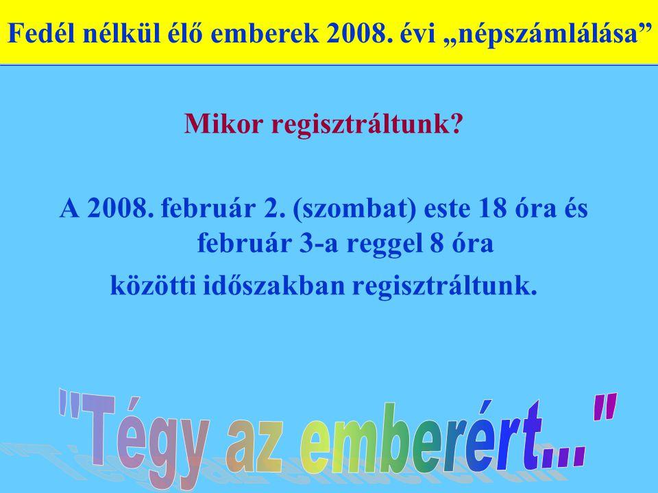 Mikor regisztráltunk. A 2008. február 2.