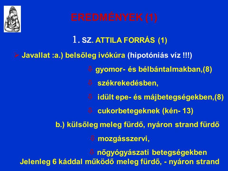 EREDMÉNYEK (1) 1. SZ.