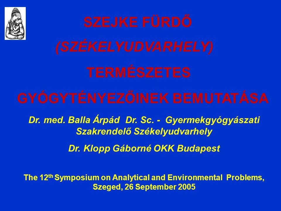 Dr. med. Balla Árpád Dr. Sc. - Gyermekgyógyászati Szakrendelő Székelyudvarhely Dr.