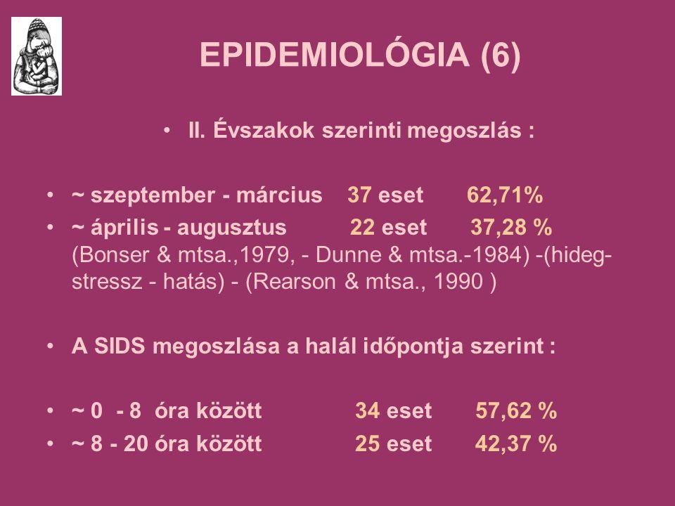 EPIDEMIOLÓGIA (6) II.