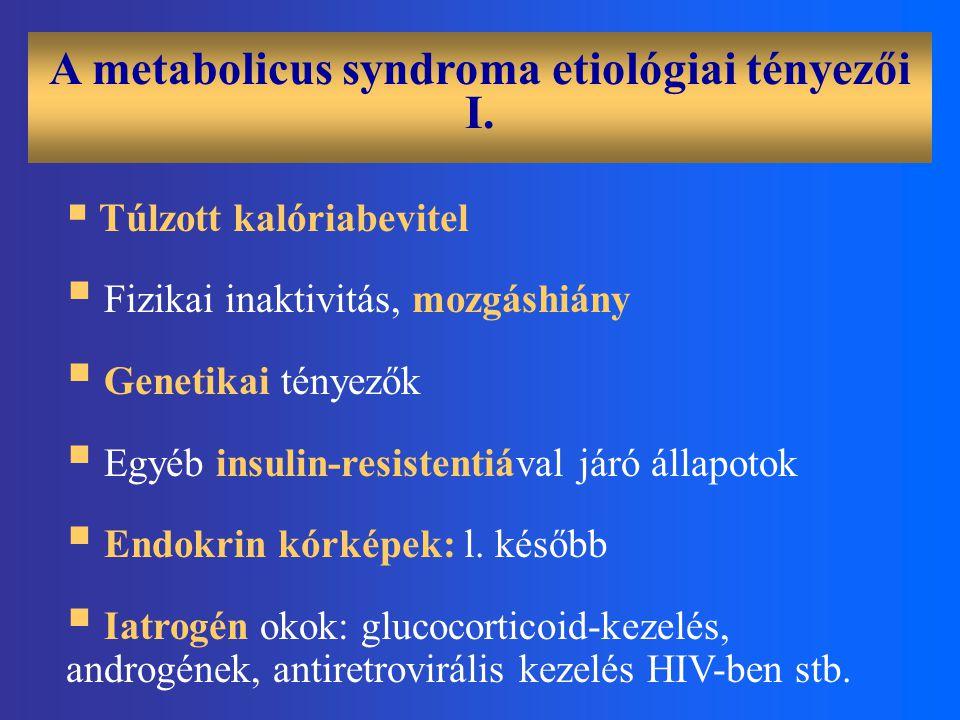 A metabolicus syndroma etiológiai tényezői I.