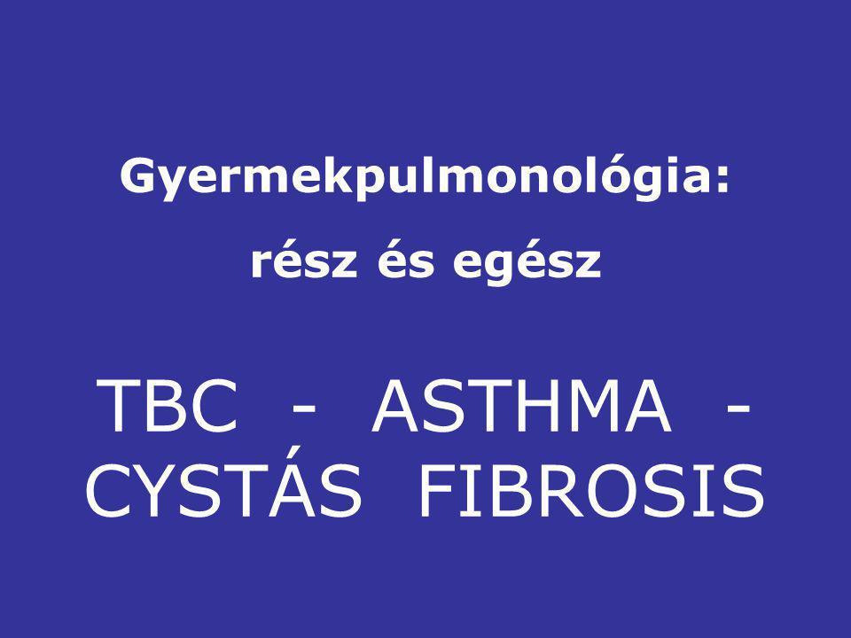 Gyermekpulmonológia: rész és egész TBC - ASTHMA - CYSTÁS FIBROSIS