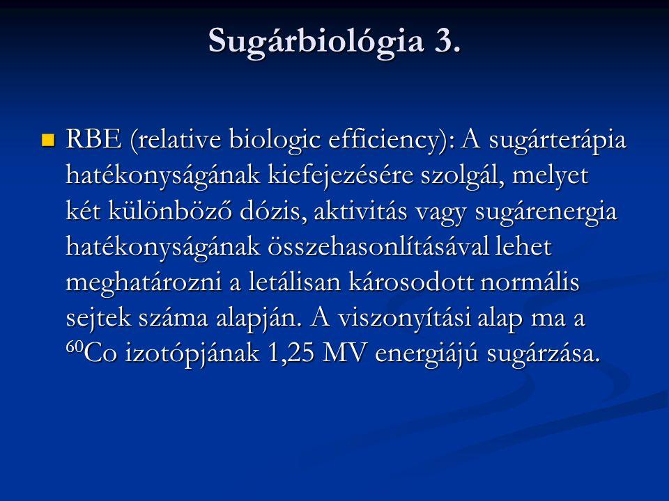 Sugárbiológia 4.Az ionizáló sugárzás DNS-károsodást idéz elő.