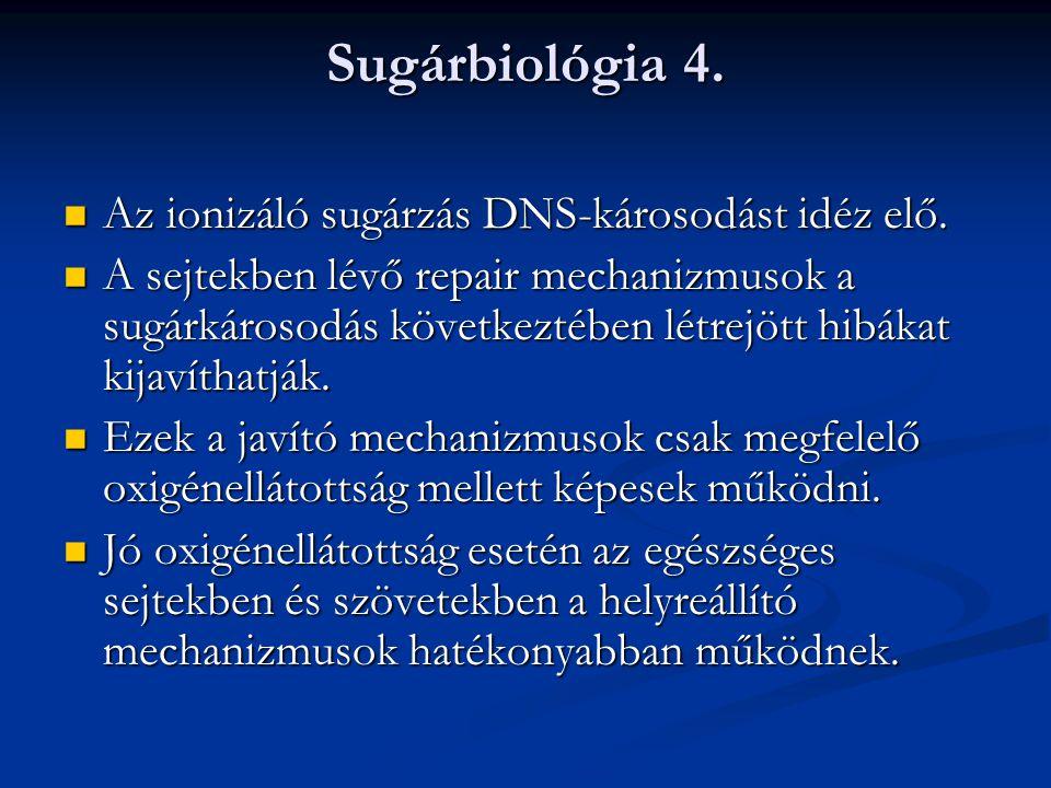 Sugárbiológia 5.A G0 fázisban lévő sejtek nem reagálnak sugárkezelésre.
