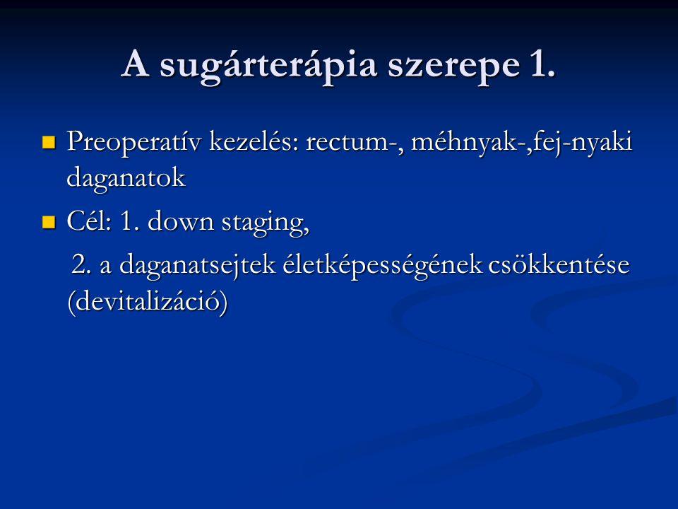 A sugárterápia szerepe 2.