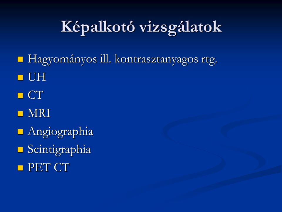 Cytologia Exfoliativ Exfoliativ Vékonytű-biopsia Vékonytű-biopsia Mellkasi, hasi punctatum vizsgálata Mellkasi, hasi punctatum vizsgálata